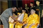 Các đồng chí lãnh đạo tỉnh Bắc Giang dự lễ phong tặng, truy tặng danh hiệu Mẹ Việt Nam Anh hùng