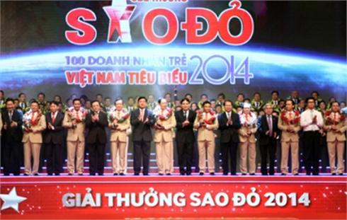 Trao giải thưởng Sao Ðỏ - 100 doanh nhân trẻ Việt Nam tiêu biểu
