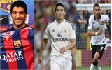Suarez - James - Di Maria là 3 cầu thủ đắt giá nhất mùa Hè 2014