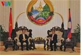 Chủ tịch Quốc hội Nguyễn Sinh Hùng hội kiến Thủ tướng Lào