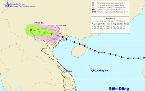 Hoàn lưu bão số 3 sẽ gây ra mưa lớn trên diện rộng