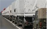 Chuyến xe cứu trợ thứ 4 của Nga đi qua biên giới Ukraine