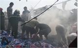 Bắc Giang: Cháy cơ sở tái chế nhựa, thiệt hại khoảng 300 triệu đồng