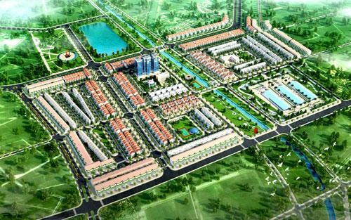Phối cảnh tổng thể khu dân cư số 3 thị trấn Thắng.