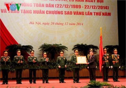 Mít tinh trọng thể Kỷ niệm 70 năm thành lập QĐND Việt Nam