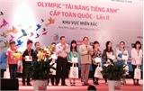"""Thi Olympic 'Tài năng tiếng Anh"""" cấp toàn quốc: Đoàn Bắc Giang giành 4 giải"""