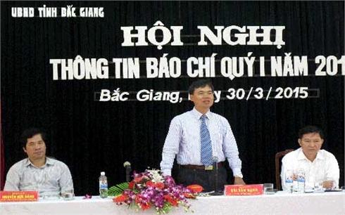 UBND tỉnh Bắc Giang: Họp báo về tình hình KT-XH quý I