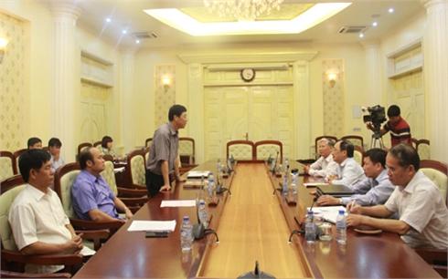 Đoàn công tác của Văn phòng Trung ương Đảng làm việc với Thường trực Tỉnh ủy Bắc Giang