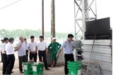 Chủ tịch UBND tỉnh Nguyễn Văn Linh kiểm tra công tác quản lý và vận hành lò đốt rác thải