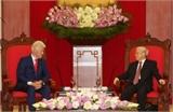 Tổng Bí thư Nguyễn Phú Trọng, Chủ tịch nước Trương Tấn Sang tiếp nguyên Tổng thống Hoa Kỳ Bin Clin-tơn