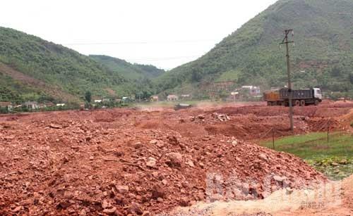 Thành lập, hội đồng, thẩm định, dự án, khai thác đất, Lục Nam