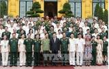 Chủ tịch nước gặp mặt đoàn đại biểu công đoàn Công an nhân dân và Quân đội nhân dân