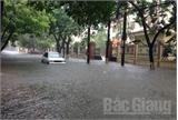 TP Bắc Giang: Mưa lớn khiến nhiều tuyến phố bị ngập úng
