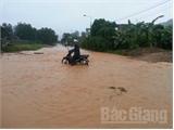 Nước sông ở Sơn Động đã rút, sông Lục Nam dâng cao, ngập úng cục bộ nhiều nơi