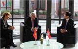 Chủ tịch nước Trương Tấn Sang gặp gỡ lãnh đạo bang Hessen (Đức)