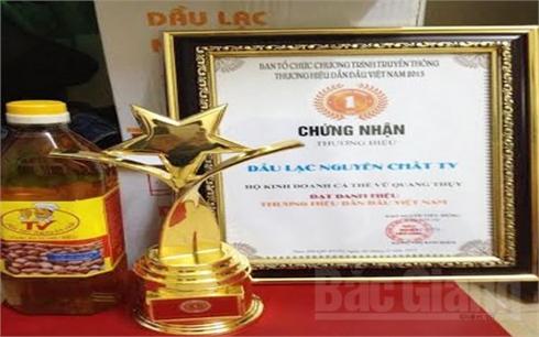 Dầu lạc TV (Lục Ngạn) -  100 thương hiệu dẫn đầu  Việt Nam năm 2015