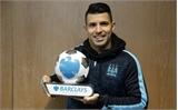 Aguero xuất sắc nhất Ngoại hạng Anh tháng 1