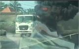 Bắc Giang: Cháy xe rơ-móc, thiệt hại hơn 100 triệu đồng