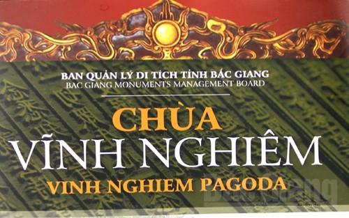 Xuất bản sách song ngữ về chùa  Vĩnh Nghiêm