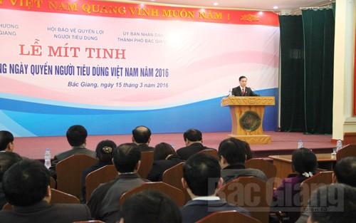 mít tinh,  hưởng ứng,  Ngày  Quyền người tiêu dùng,  Việt Nam, quyền lợi