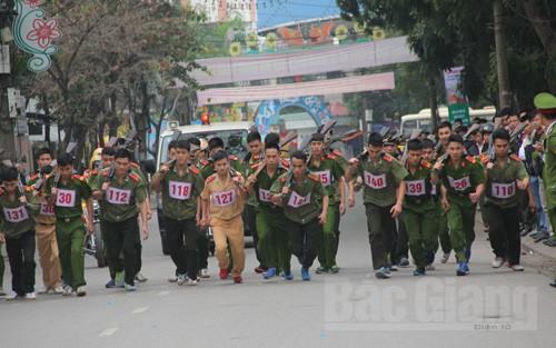 Hơn 200 VĐV,  tham gia,  Giải Việt dã,  Công an tỉnh Bắc Giang