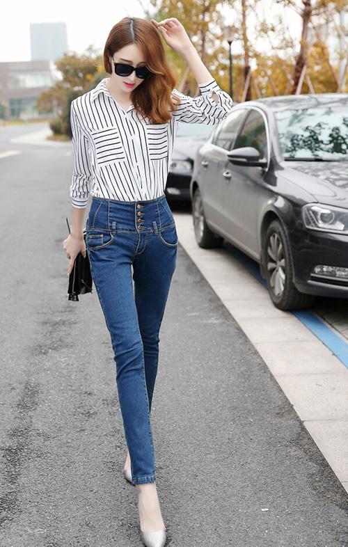 tự tin, năng động, trẻ trung,  quần Jeans