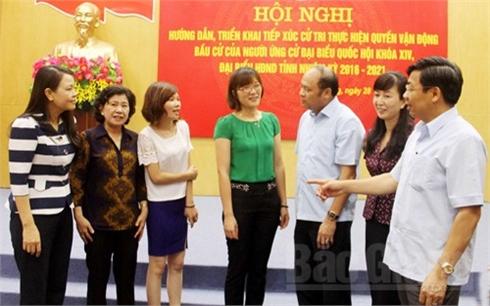 Gặp mặt những người ứng cử ĐBQH, đại biểu HĐND tỉnh