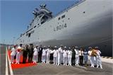 Chiến hạm Tonenerres của Hải quân Pháp đến cảng quốc tế Cam Ranh