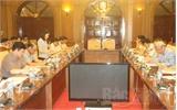 Chủ tịch UBND tỉnh Nguyễn Văn Linh làm việc với đoàn công tác Tổng Cục Thi hành án dân sự