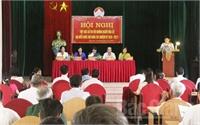 Ứng cử viên ĐBQH vận động bầu cử tại huyện Hiệp Hòa