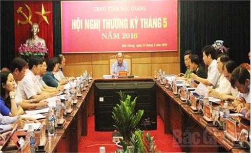 UBND tỉnh Bắc Giang họp phiên thường kỳ tháng 5: Thảo luận nhiều nội dung quan trọng