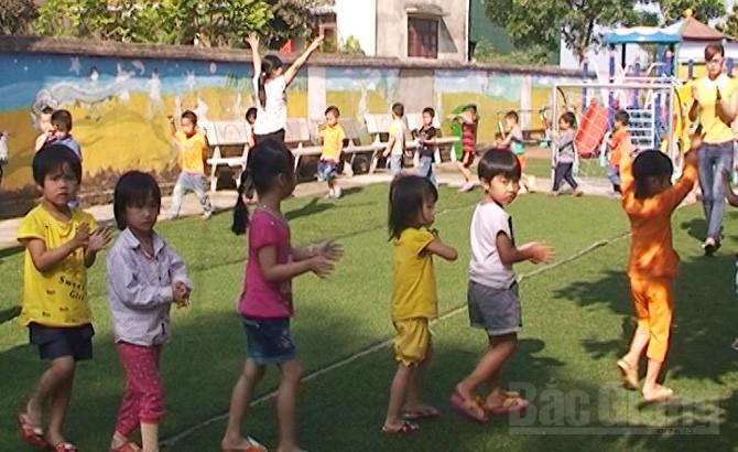 Lục Nam: Chú trọng giáo dục thể chất cho trẻ mầm non