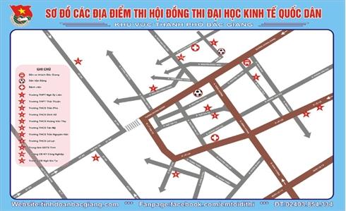 Bắc Giang: Sơ đồ và số điện thoại hỗ trợ  'Em tôi đi thi' năm 2016