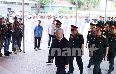 Lãnh đạo Đảng và Nhà nước dự Lễ viếng 9 quân nhân phi hành đoàn CASA-212