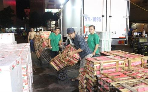 Giá vải thiều tại TP Hồ Chí Minh dao động từ 20-30 nghìn đồng/kg