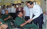 Chủ tịch nước Trần Đại Quang thăm, tặng quà thương, bệnh binh tại Hà Nam