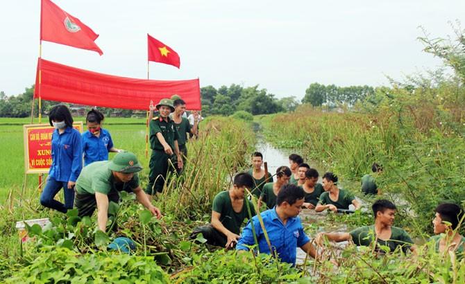 Trường Quân sự làm dân vận tại Yên Dũng