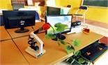 Chế tạo bộ phận kết nối kính hiển vi quang học với máy vi tính