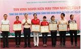 TP Bắc Giang: Tôn vinh tập thể, cá nhân hiến máu tiêu biểu