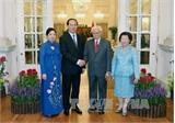 Chủ tịch nước Trần Đại Quang hội đàm với Tổng thống Singapore