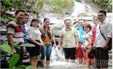 Chủ tịch UBND huyện Vũ Trí Hải khảo sát khu du lịch sinh thái Thác Ngà - Xuân Lương