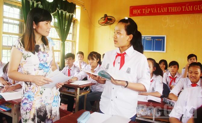 Cô giáo Lê Thị Hà, Trường THCS thị trấn Neo (Yên Dũng): Thầy tốt sẽ có trò giỏi