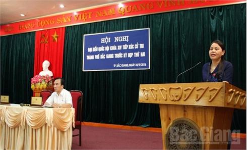 ĐBQH  tiếp xúc cử tri TP Bắc Giang