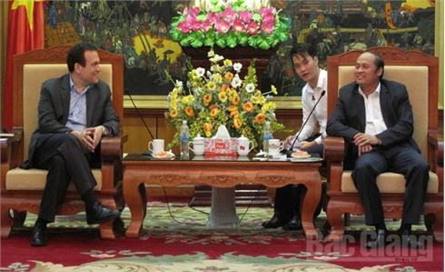 Chủ tịch UBND tỉnh Bắc Giang Nguyễn Văn Linh tiếp đại diện Tập đoàn Cargill