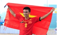 VĐV Bắc Giang Đinh Văn Đức giành ngôi vô địch đá cầu đơn nam tại ABG5