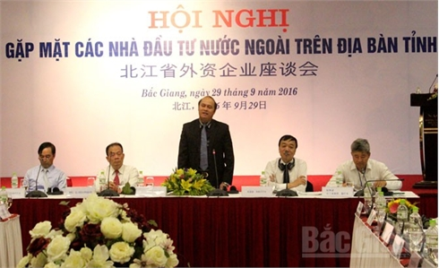 Chủ tịch UBND tỉnh Bắc Giang Nguyễn Văn Linh gặp mặt các nhà đầu tư nước ngoài
