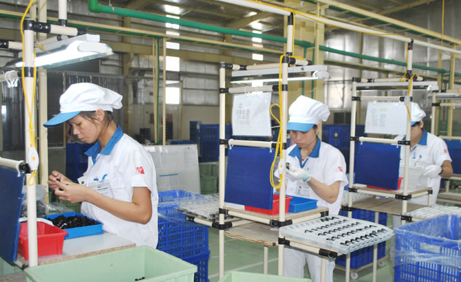 Industrial parks, in Bac Giang, revenues
