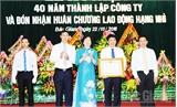 Công ty Nước sạch Bắc Giang đón nhận Huân chương  Lao động hạng Nhì