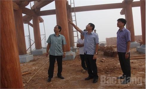 Khẩn trương hoàn thiện khu tái định cư phục vụ dự án Khu du lịch Tây Yên Tử