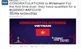 FIFA chúc mừng U19 Việt Nam lần đầu dự World Cup U20